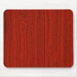 Simple Red Wood Look Grain Pattern Mouse Pad