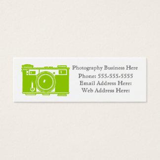 Simple Retro Green Film Camera Business Card
