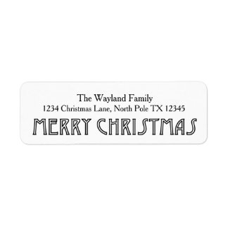 Simple Retro Holiday Address Labels