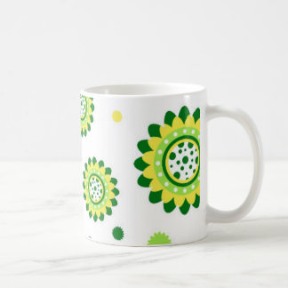 Simple Retro Sunflower Pattern Classic White Coffee Mug