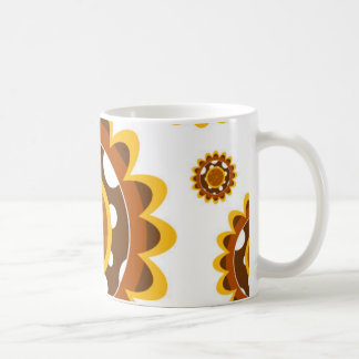 Simple Retro Sunflower Pattern Coffee Mug