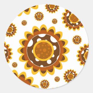 Simple Retro Sunflower Pattern Stickers