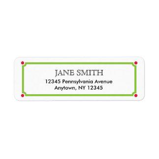 Simple Return Address Label for Christmas
