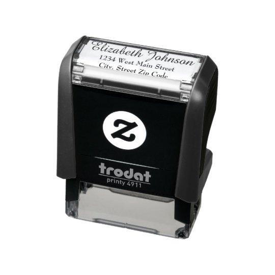 Simple Return Address Label Self-inking Stamp