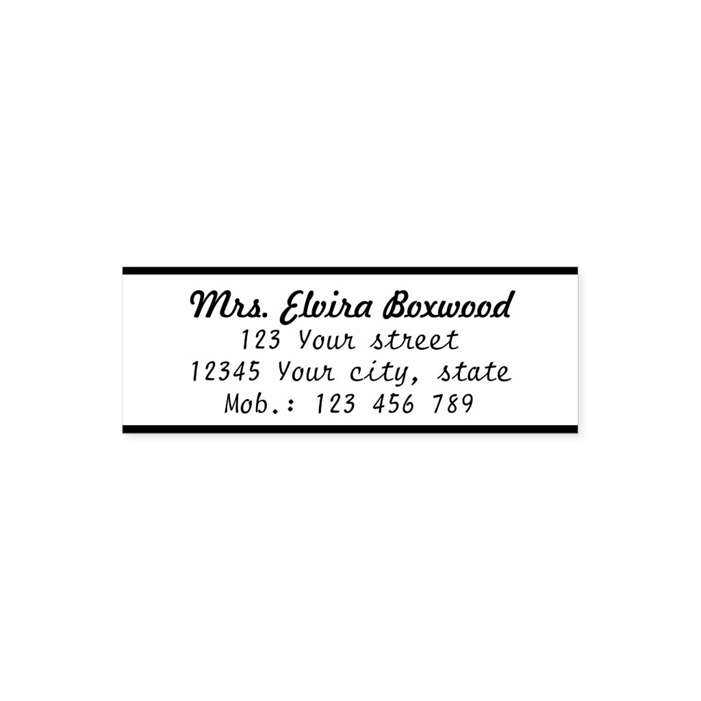 Simple Return Address Label with Lines