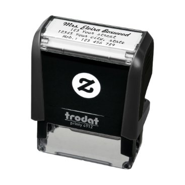 KreaturShop Simple Return Address Self-inking Stamp