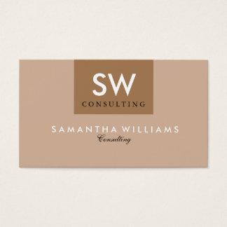 Simple Reversible Modern Brown & Tan Business Card