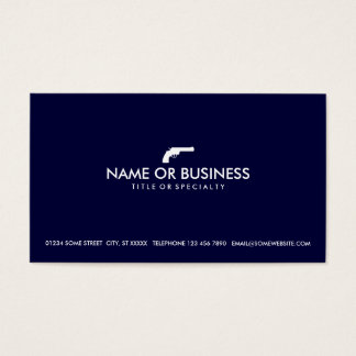 simple revolver business card