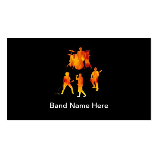 Simple rock band business cards zazzle for Band business cards