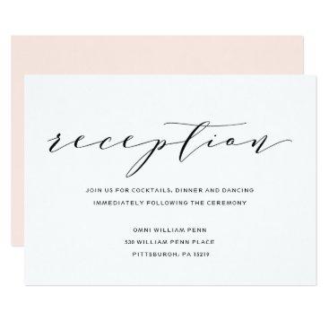 blush_printables Simple Romance Calligraphy Wedding Reception Card