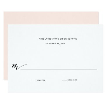 blush_printables Simple Romance Calligraphy Wedding Reply Card