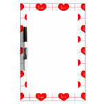 Simple Romantic Red Love Hearts Pattern Dry-Erase Whiteboards