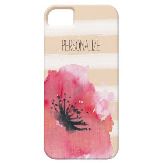 Simple Romantic Stripes Floral iPhone SE/5/5s Case