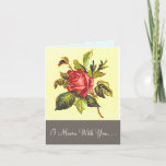 [ Thumbnail: Simple Rose Flower Funeral Condolences Card ]