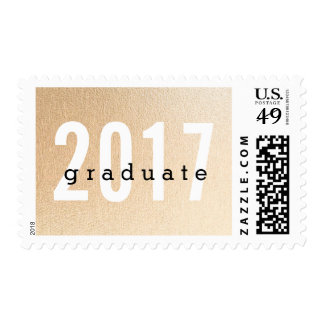 Simple Rose Gold Graduate 2017 Postage