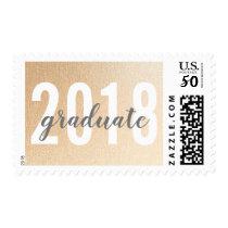 Simple Rose Gold Graduate 2018 Postage