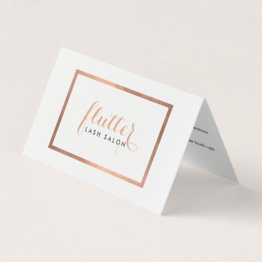Simple Rose Gold Lash Salon Logo Aftercare Card