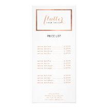 Simple Rose Gold Lash Salon Logo Rack Card