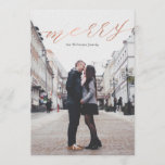 "Simple Rose Gold Merry Christmas Photo Cards<br><div class=""desc"">Simple Rose Gold Merry Christmas Photo Cards</div>"