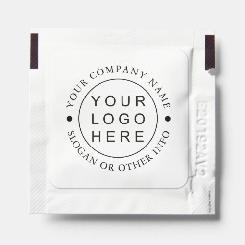 Simple Round Business Logo Hand Sanitizer Packet