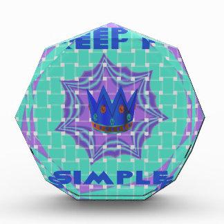 Simple Royal Acrylic Award