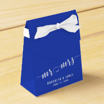 Simple Royal Blue Wedding Favor Boxes Tent