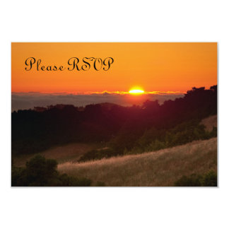 Simple RSVP featuring beautiful California sunset 3.5x5 Paper Invitation Card