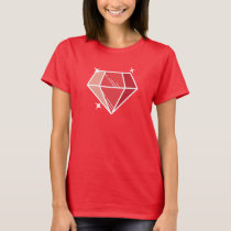 Simple Ruby Gemstone T-Shirt