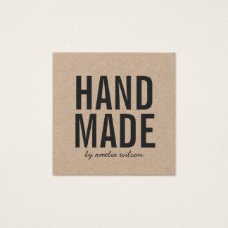 Simple Rustic Handmade Kraft Social Media Square Business Card
