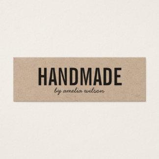 Simple Rustic Handmade Social Media Kraft Mini Business Card