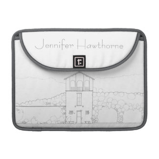 Simple Rustic House Modern Black and White Drawing MacBook Pro Sleeve