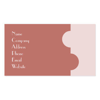 Simple Salmon Pink Business Card