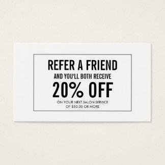 Simple Salon Customer Referral Card