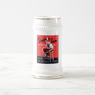 Simple Sam The Wasting Fool -- WW2 Beer Stein
