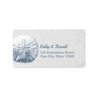 Simple Sand Dollar Silver Return Address Labels