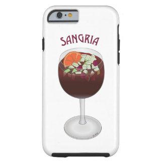 Simple Sangria Wine Tough iPhone 6 Case