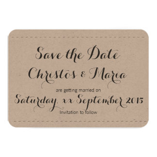 Simple Save the Date Announcement Cards