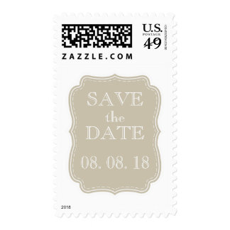 SIMPLE SAVE THE DATE | BEIGE STAMP