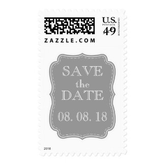 SIMPLE SAVE THE DATE | GREY STAMP