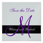 Simple Save the Date Monogram Announcement Card