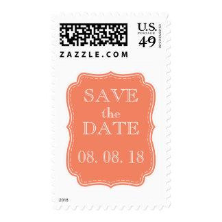 SIMPLE SAVE THE DATE | ORANGE POSTAGE