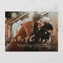 Simple save the date photo postcard