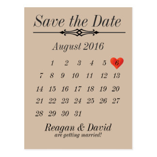 Simple Save the Date Postcard 2