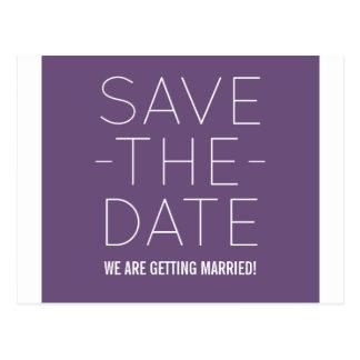 Simple Save the Date Postcard, Purple