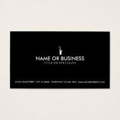 Simple Saxophone Business Card at Zazzle