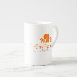 Simple #SayDyslexia Logo Tea Cup