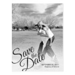 Simple Script Modern Save the Date Photo Postcard