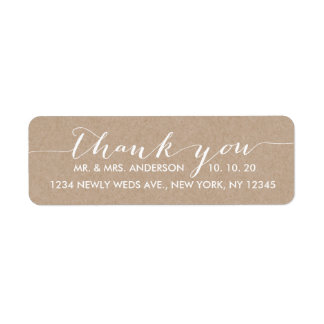 Simple Script Wedding Thank You Label