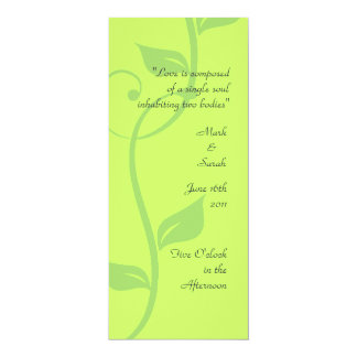 Simple Scrolling Vine Green Wedding Program