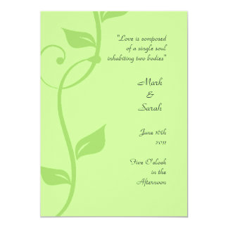 Simple Scrolling Vine Soft Green Wedding Program